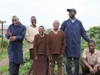 John Nyanjui and students