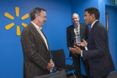 (from L-TO-R) Mike Duke, President & CEO, Walmart; Dan Bartlett, Executive VP of Corporate Affairs, Walmart; Rajiv Shah, Administrator, USAID. Photo credit: USGLC