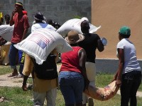 Food distribution in Haiti. Photo credit:  Osterman
