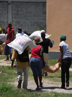 Food distribution in Haiti. Photo credit:  Osterman