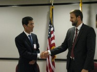 As one of his first official duties as the new USAID/OFDA Director, Jeremy Konyndyk signed a Letter of Coordination with CEA Administrator Chen Jianmin. Photo credit: USAID