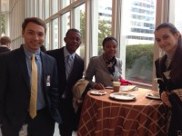 Dillon Roseen (far left) is an intern in the Legislative and Public Affairs Bureau at USAID. He is pictured here at the World Bank Youth Summit with a few other participants. Photo credit: USAID
