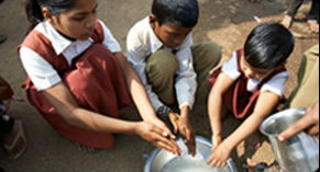 Children benefit from handwashing. Photo credit: Lifebuoy
