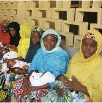 Women waiting for newborn care at a nursery. Photo credit: MCHIP