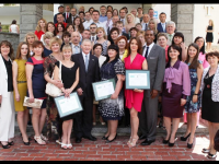The first graduating class of court administrators in Ukraine. Photo credit: USAID Ukraine