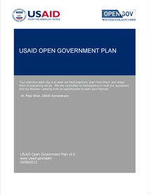 Click on the image to read USAID's Open Government Plan.