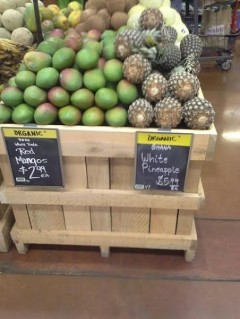 Ghanaian pineapples on display at a Whole Foods Market. Credit: Michael Griffin, Sardis Enterprises