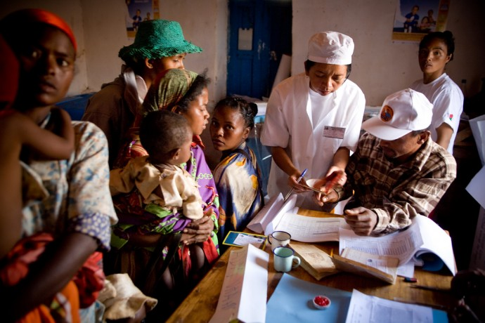 Community health works, like these in Madagascar, are often the front lines of defense against malaria. Photo Credit: Maggie Hallahan
