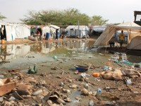 Camp Tanping in Bor, South Sudan, after March rain. 21,000 people are sheltered at the camp following the outbreak of violence