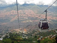 The Medellin metrocable, Colombia