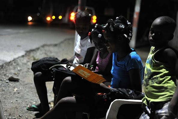 Solar lights funded by OTI in Cap Haitien and en route to Caracol, Haiti, on Oct. 19, 2012.. / Kendra Helmer/USAID