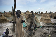 Davorah Nyariera escaped fierce fighting in Bentiu, South Sudan, empty-handed with her children and grandchildren. / Jacob Zocherman, Mercy Corps