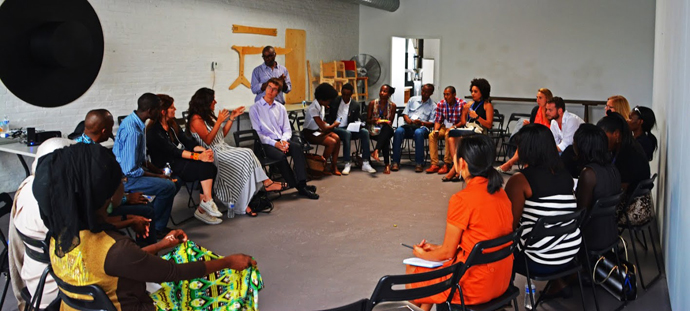Mandela Washington Fellows gather to discuss how making will help shape Africa's future. / Mike Star