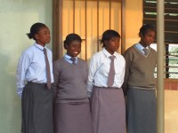 Girl students at Shalom Community School, Lusaka, Zambia