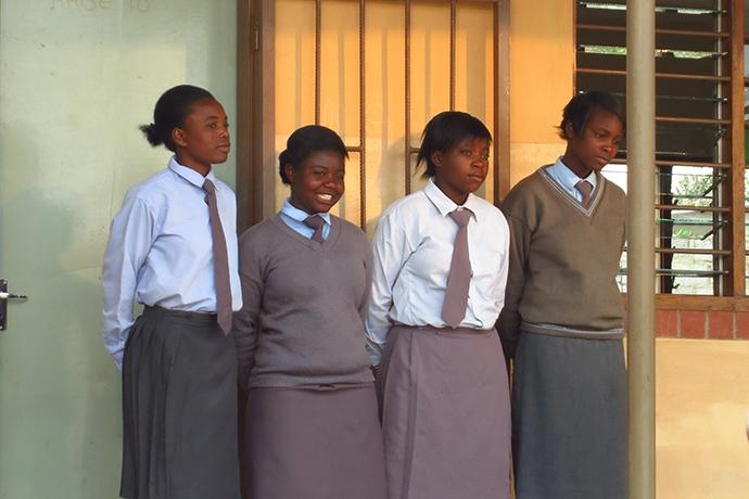 Girl students at Shalom Community School, Lusaka, Zambia