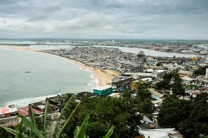 Monrovia, Liberia - September 18, 2014: West Point, a township of 20,000 to 80,000 people, is a hot zone for the Ebola virus.