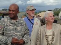 General Darryl Williams, Bill Berger, and U.S. Ambasador to Liberia Deborah Malac.