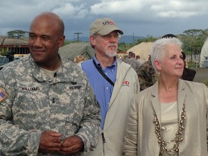 General Darryl Williams, Bill Berger, and U.S. Ambasador to Liberia Deborah Malac.