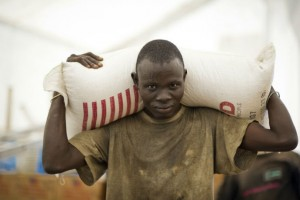 Food distribution in South Sudan. / World Food Program
