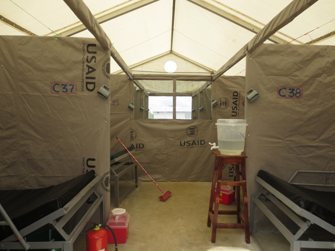 The 88-bed ETU, which opened on November 22, has received a number of patients. Some were discharged after testing negative for Ebola. Photo courtesy: Alisha McMichael, USAID/OFD