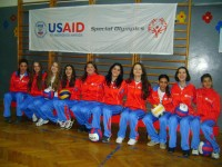 """The inclusive volleyball team from Krusevac, Serbia, formed as part of the USAID/Special Olympics """"Inclusion for All"""" project. / Special Olympics"""