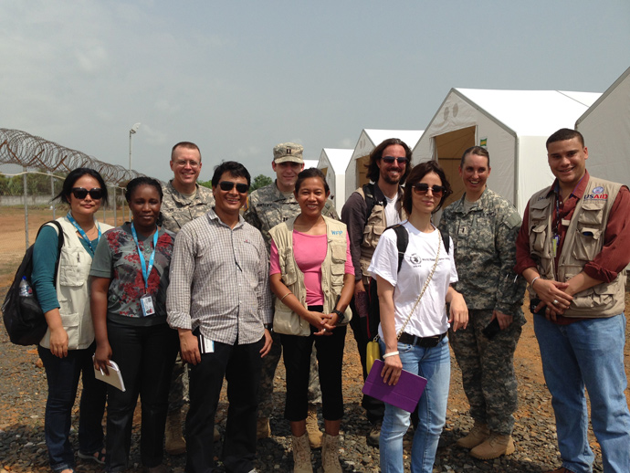 Meet the team of experts with USAID, the U.S. military, and the UN World Food Program that have been working around the clock to transport, track and deliver critical medical supplies for the Ebola response. / Carol Han, USAID/OFDA