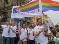 Staff from the U.S. Embassy in Prague marched in support of Prague Pride in August 2014 / Embassy of the United States, Czech Republic
