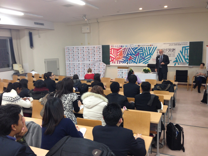 Thomas H. Staal, acting assistant administrator for USAID's Bureau for Democracy, Conflict and Humanitarian Assistance, participates in the Children and Youth Forum in Sendai, Japan. / Cynthia Romero, USAID