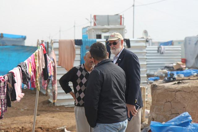 USAID Acting Assistant Administrator for Democracy, Conflict and Humanitarian Assistance Thomas H. Staal assesses the Harshm Camp in Erbil, Iraq. / USAID