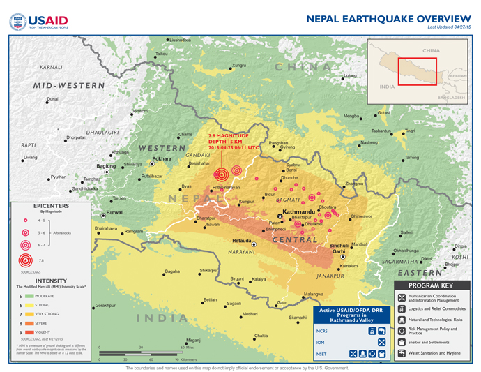 DCHA Nepal Earthquake Map