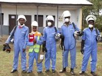 The President's Malaria Initiative (PMI) Africa Indoor Residual Spraying Project protects millions of people in Africa from malaria by spraying insecticide on walls and ceilings to kill mosquitoes that transmit the disease. With PMI's support, more than 18 million in Africa people have been protected through indoor residual spraying. / Jessica Scranton