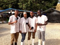 Meet the Ebola Chrono news team! Their radio show is breaking new ground as they were the first Guinean journalists to report from inside an Ebola treatment center. / Internews