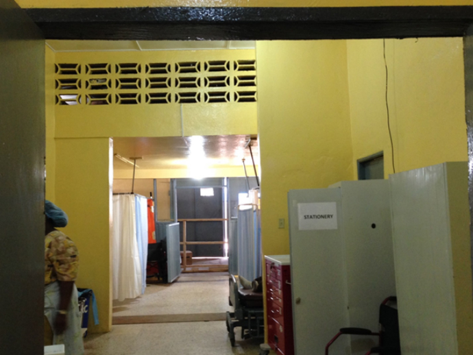 "AFTER: USAID supported IRC to renovate Redemption's emergency and pediatric wards. ""It not only looks different, it tells people this is a new place with a new way of doing things,"" said Dr. Jude Senkungu. / Carol Han, USAID/OFDA"