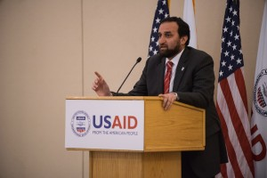 Islamic Relief-USA CEO Anwar Khan delivers remarks during USAID Iftar / Robb Hohmann, USAID