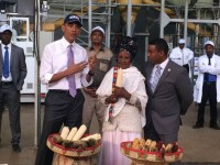 Gifty Jemal Hussein, a smallholder farmer in Ethiopia, spoke with President Obama today.