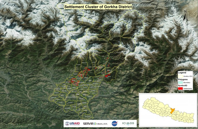 Satellite imagery used for disaster response work.