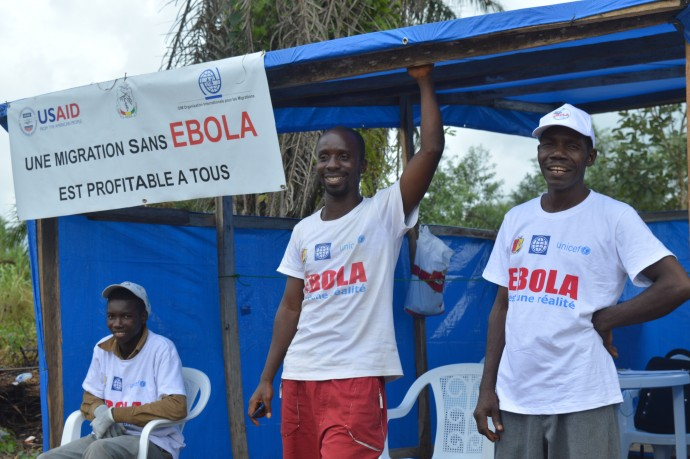 USAID and the International Organization for Migration are working with the governments of countries affected by Ebola to increase surveillance and data collection at land border crossings, airports and seaports. / International Organization for Migration
