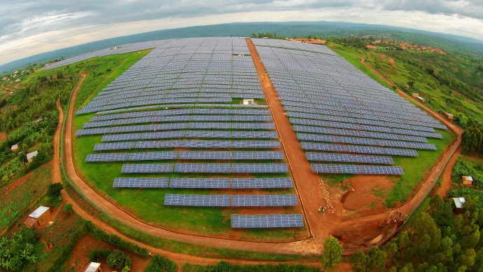 The Gigawatt Global solar field at the Agahozo Shalom Youth Village in Rwanda helps the long-term sustainability of the village, is good for the environment, generates local employment and education, and empowers the country with access to electricity. / Sameer Halai for the Power Africa Photo Contest
