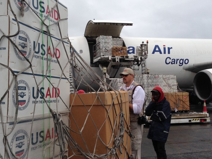 The United States played a critical role in the response, ultimately sending more than 3,000 people to West Africa and supporting more than 10,000 civilian responders in Liberia, Sierra Leone and Guinea. / Carol Han/USAID