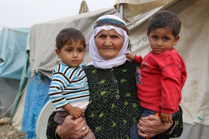 Ayyush is 80 years old. She recently lost her son in the conflict in Syria. She now only wishes for more years ahead to raise her grandchildren. Ayyush and her family live in the Islahiye refugee camp in Turkey where they receive monthly food assistance through an e-food card program.