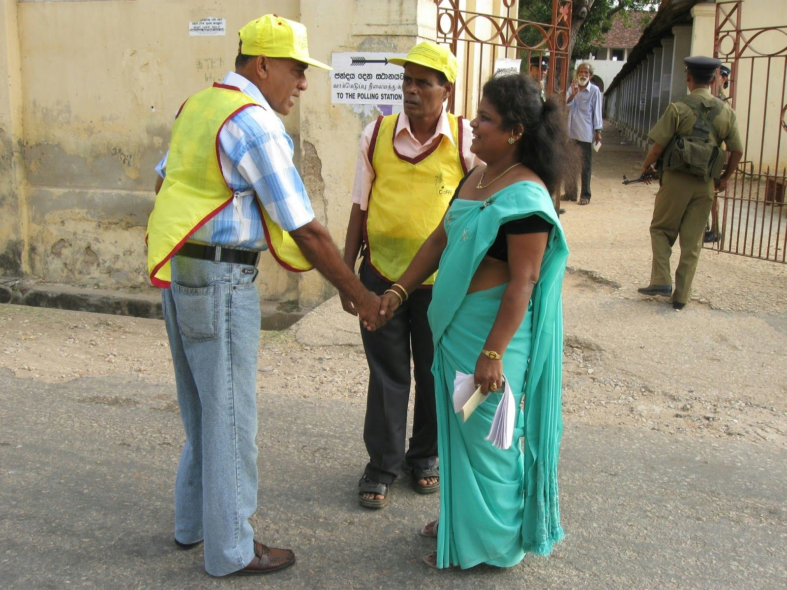 Domestic election monitors at a polling booth during 2009 elections in Sri Lanka / USAID