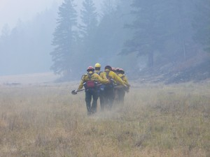 South Africa deployed a firefighting team for an international wildfire response for the first time this summer. Their presence was proof that USAID's investments in building local disaster response capacity are paying off. / U.S. Forest Service