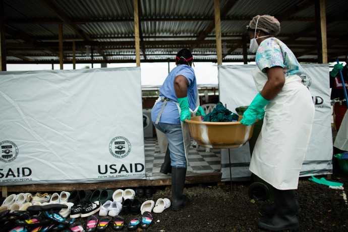 The response to the Ebola outbreak required coordination among a wide, varied array of groups -- and ultimately helped bring the disease under control. / Morgana Wingard/USAID