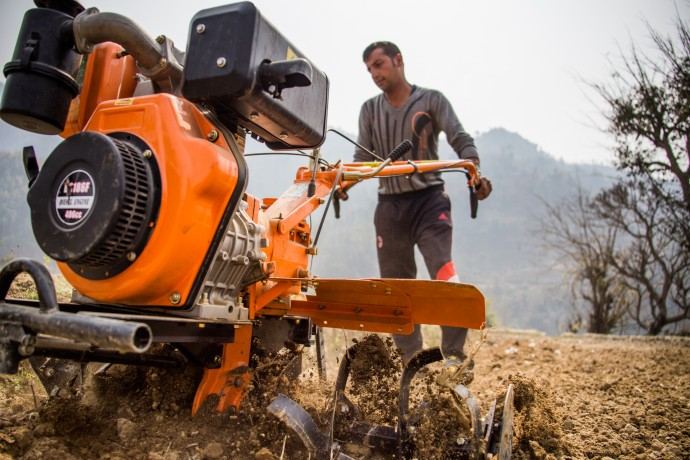 To jumpstart recovery in the agriculture sector, USAID is delivering much-needed agricultural tools and supplies to farmers. / Derek Brown for USAID/Nepal