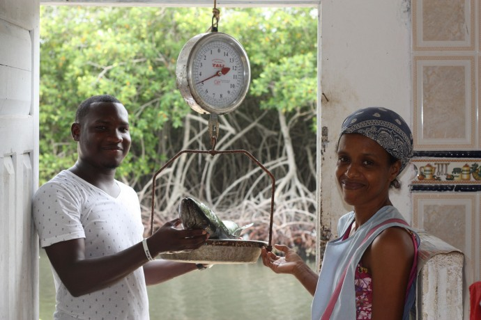 Fishing businesses such as this one are an example of USAID microenterprise activities that have provided Afro-Colombian and indigenous groups in Colombia with economic security. / Courtesy of ACDI/VOCA