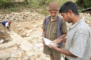 USAID recovery and reconstruction projects, like Baliyo Ghar, train construction professionals and homeowners on how to build back safer using local materials and earthquake-resistant best practices. / Laxman Shrestha for USAID/Nepal