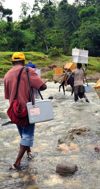The global health supply chain works to get life-saving HIV/AIDS commodities to even the most rural places around the world. / Jean Jacques Augustin, SCMS