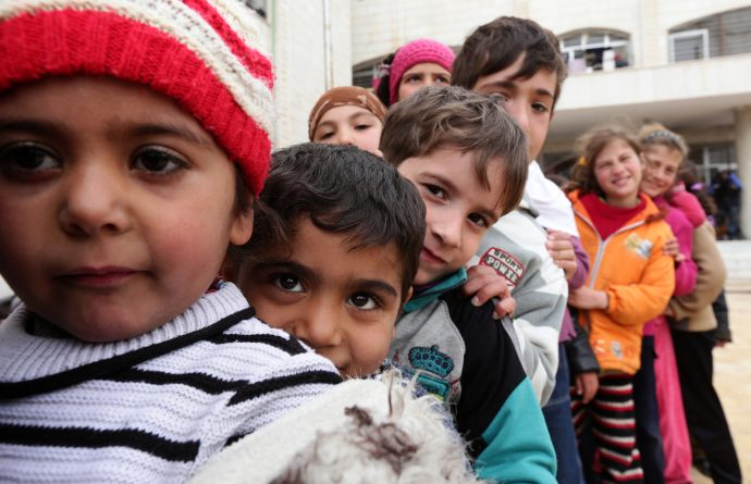 One in three Syrian children, born after the conflict began, have never known a life without war, insecurity or displacement. A new report reveals Syria has the second-largest number of internally displaced people in the world, due to conflict and violence. / Louai Beshara, AFP