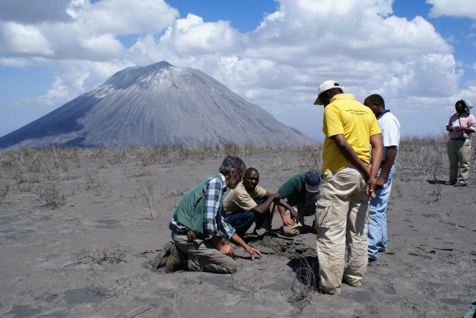 VDAP team and scientists from the Geological Survey of Tanzania respond to Ol Dionyo Lengai Volcano in Tanzania. / Gari Mayberry, USAID/USGS