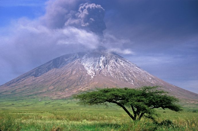 "Ol Dionyo Lengai Volcano means ""Mountain of God"" in local Maasia language. Photo taken February 4, 2008/ George Seielstad"